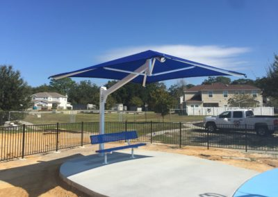 single post cantilevered shade at Keesler AFB 102